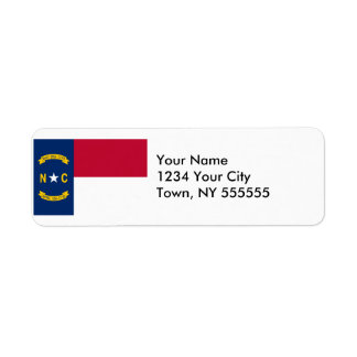 North Carolina State Flag Label