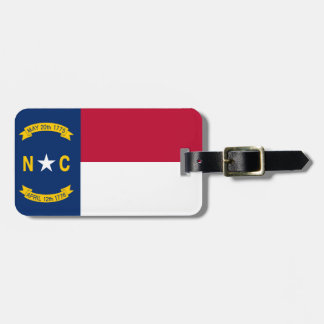 North Carolina State Flag Luggage Tag