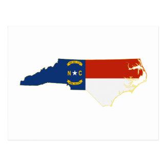 North Carolina State Flag Map Postcard