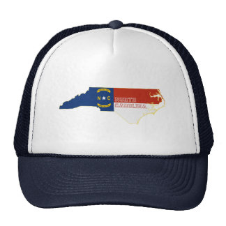 North Carolina State Flag Map Trucker Hat