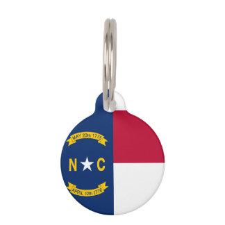 North Carolina State Flag Pet Name Tag