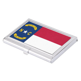 North Carolina State Flag Business Card Holder