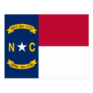 North Carolina State Flag Postcard
