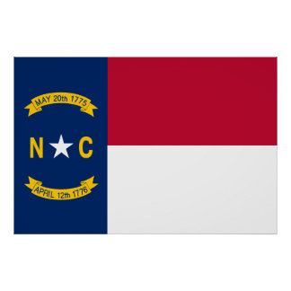 North Carolina State Flag Poster
