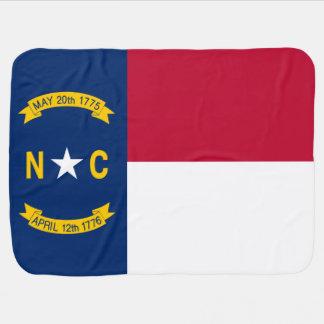 North Carolina State Flag Receiving Blanket