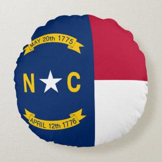 North Carolina State Flag Round Pillow