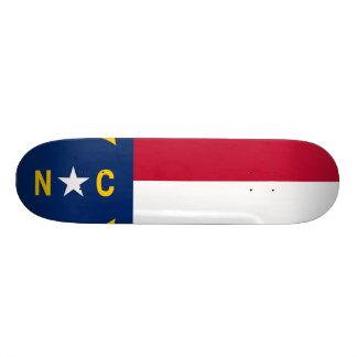 North Carolina State Flag Skateboard