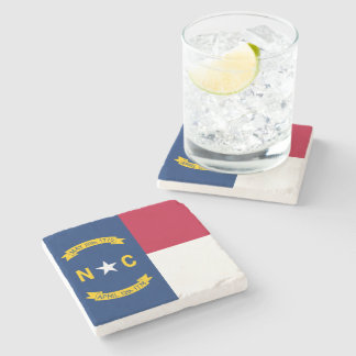 North Carolina State Flag Stone Coaster