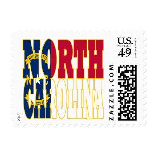 North Carolina state flag text Postage