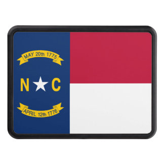 North Carolina State Flag Tow Hitch Cover