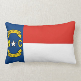 north carolina state flag united america pillow