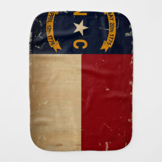 North Carolina State Flag VINTAGE. Baby Burp Cloth