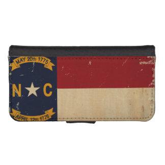 North Carolina State Flag VINTAGE. iPhone 5 Wallet Cases