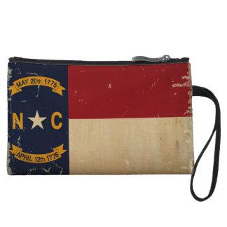 North Carolina State Flag VINTAGE. Wristlet Wallet