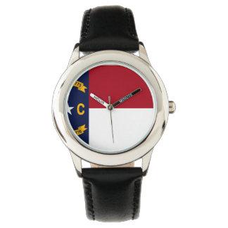 North Carolina State Flag Wrist Watch