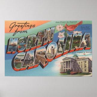 North Carolina (State Flower/Bird) Poster