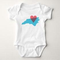 North Carolina State Love Baby Shirt