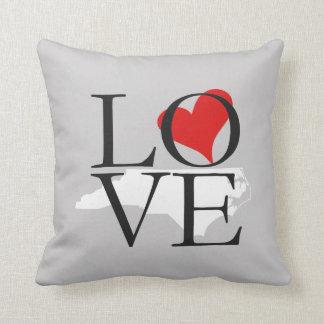 North Carolina State Love Pillow