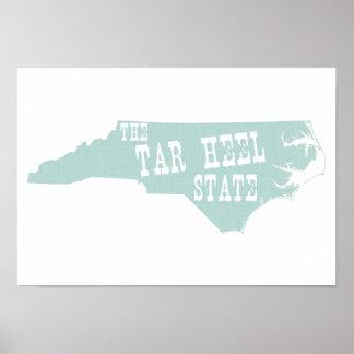 North Carolina State Motto Slogan Poster
