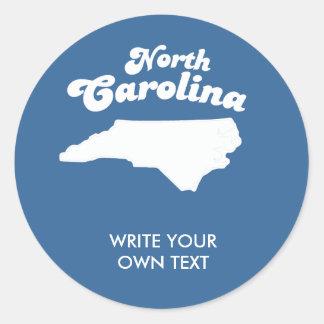 NORTH CAROLINA STATE MOTTO T-SHIRT T-shirt Classic Round Sticker