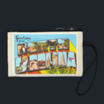 """North Carolina State NC Vintage Travel Postcard- Change Purse<br><div class=""""desc"""">State,  North Carolina NC  A nostalgic,  vintage travel souvenir postcard image,  an authentic retro design. Greetings from the American Travelogue Virtual Touring Company!</div>"""