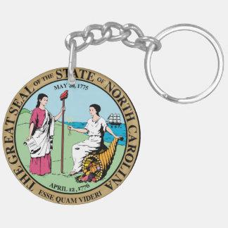 North Carolina state seal america republic symbol Keychain