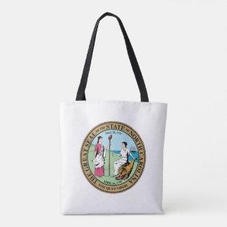 North Carolina state seal america republic symbol Tote Bag