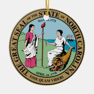 North Carolina State Seal Ceramic Ornament