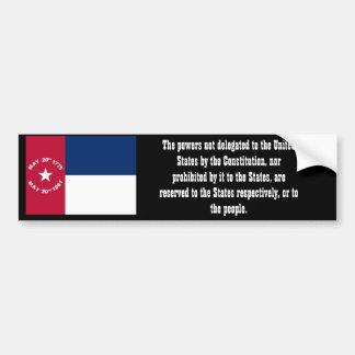 North Carolina State Sovereignty Car Bumper Sticker