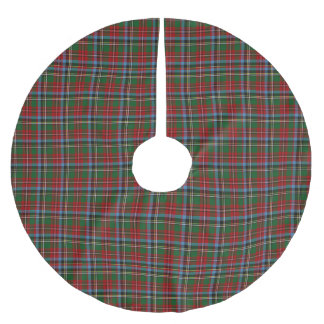 North Carolina State Tartan Brushed Polyester Tree Skirt