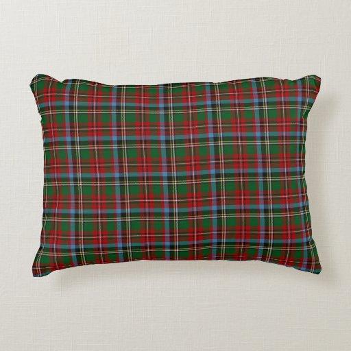 Decorative Pillows With States : North Carolina State Tartan Decorative Pillow Zazzle