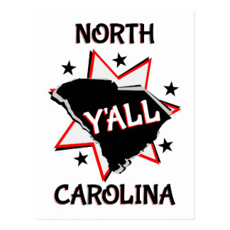 North Carolina State Y'all Postcard