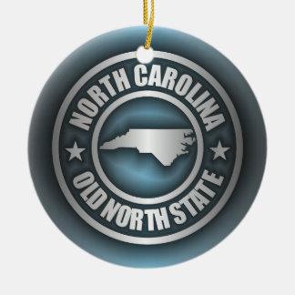 """North Carolina Steel 2"" Ceramic Ornament"