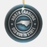 """North Carolina Steel 2"" Christmas Tree Ornament"