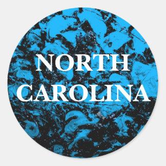 North Carolina Round Stickers