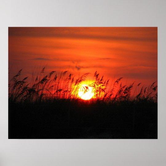 North Carolina Sunset Poster