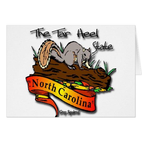 North Carolina Tar Heel State Gray Squirrel Card