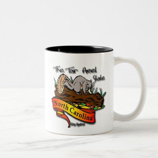North Carolina Tar Heel State Gray Squirrel Two-Tone Coffee Mug