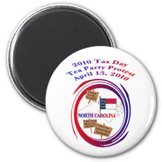 North Carolina Tax Day Tea Party Protest Magnet