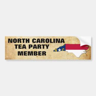 NORTH CAROLINA TEA PARTY BUMPER STICKERS