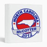 North Carolina Thad McCotter 3 Ring Binder