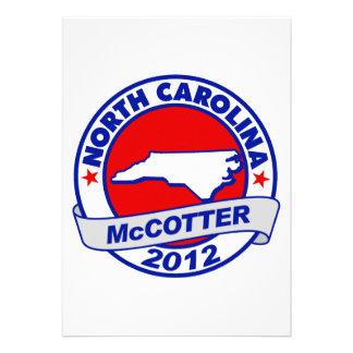 North Carolina Thad McCotter Custom Announcements