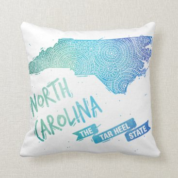 USA Themed North Carolina Throw Pillow