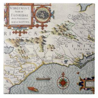North Carolina, titled 'Virginiae item et Floridae Tile