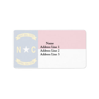North Carolina, United States Address Label