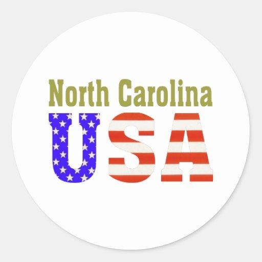 North Carolina USA! Classic Round Sticker