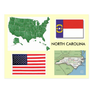 North Carolina, USA Postcard
