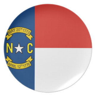 north carolina usa state flag plate america