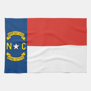North Carolina Usa State Flag Towel at Zazzle