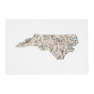 North Carolina Vintage Picture Map Placemat